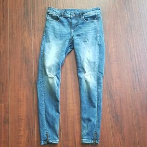 Zara z1975 medium wash skinnies